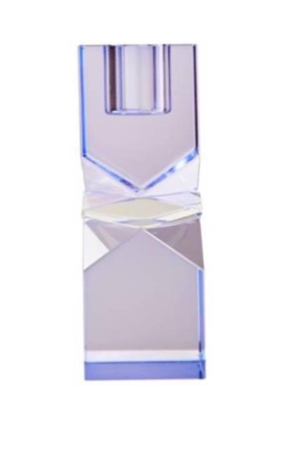 Bilde av Lilla klar lilla krystal lysestake