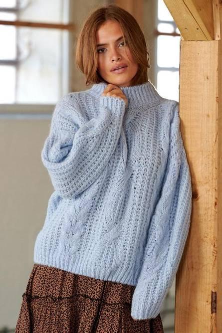 Bilde av Noella Henlow Knit Sweater Light Blue