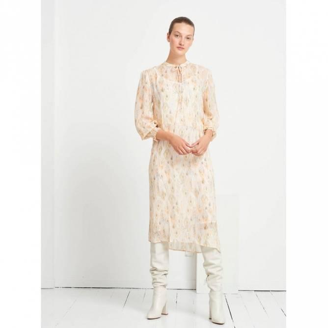 Bilde av Dahlia Janet dress - White Cream AOP