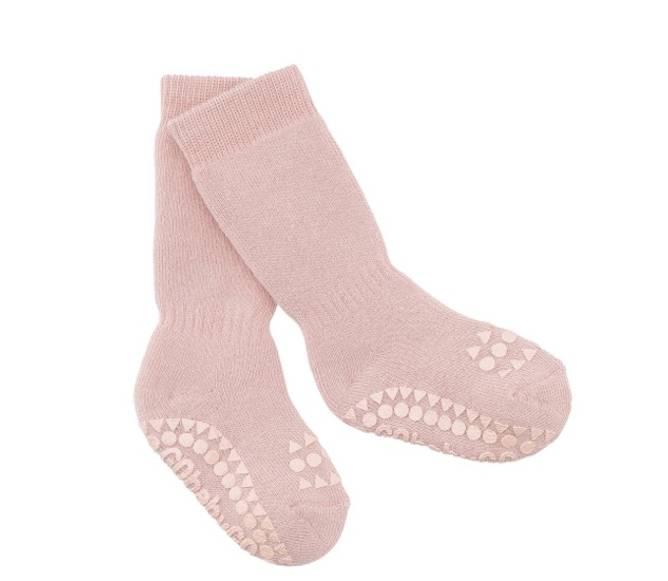 Bilde av Antiskli bomull sokker dusty rose
