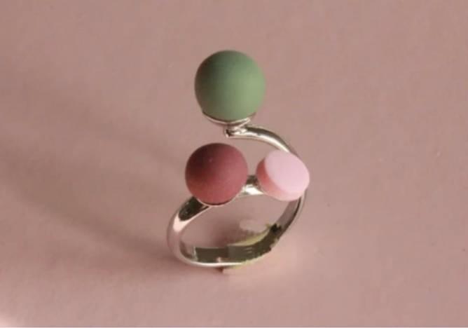Bilde av Triple ring grøn